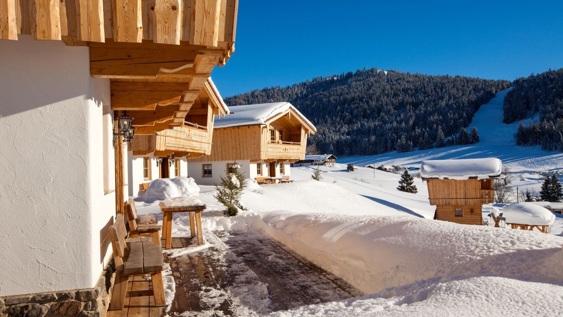Chalets im Winter